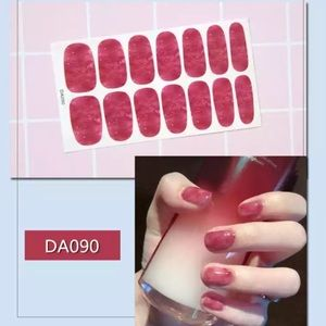 Pink marbled nail wraps